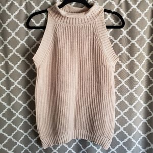 Harve Benard Caramel Sleeveless Sweater Sz S